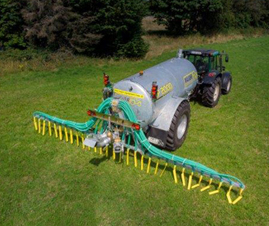 major dribble bar slurry applicator