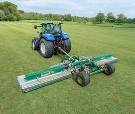 wide area mower; major roller mower; trailed mower; polo mower; pitch mower; park mower; trimax mower; progressive turf mower; turf mower; sod mower