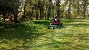 Synergy outfront mower on Kubota at Rookery Hall hotel & Spa