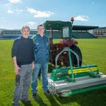 Austin Stack Park Chairman Tony OKeefe and Groundsman Ger OMahoney with MAJOR Swift