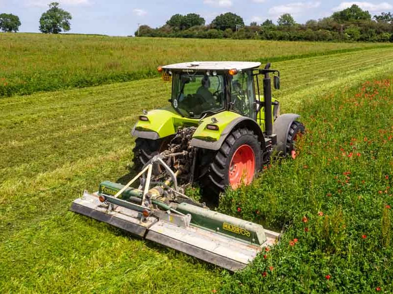 MJ30-420 Major Cyclone agri mower topper cover crop St Albans UK Claas